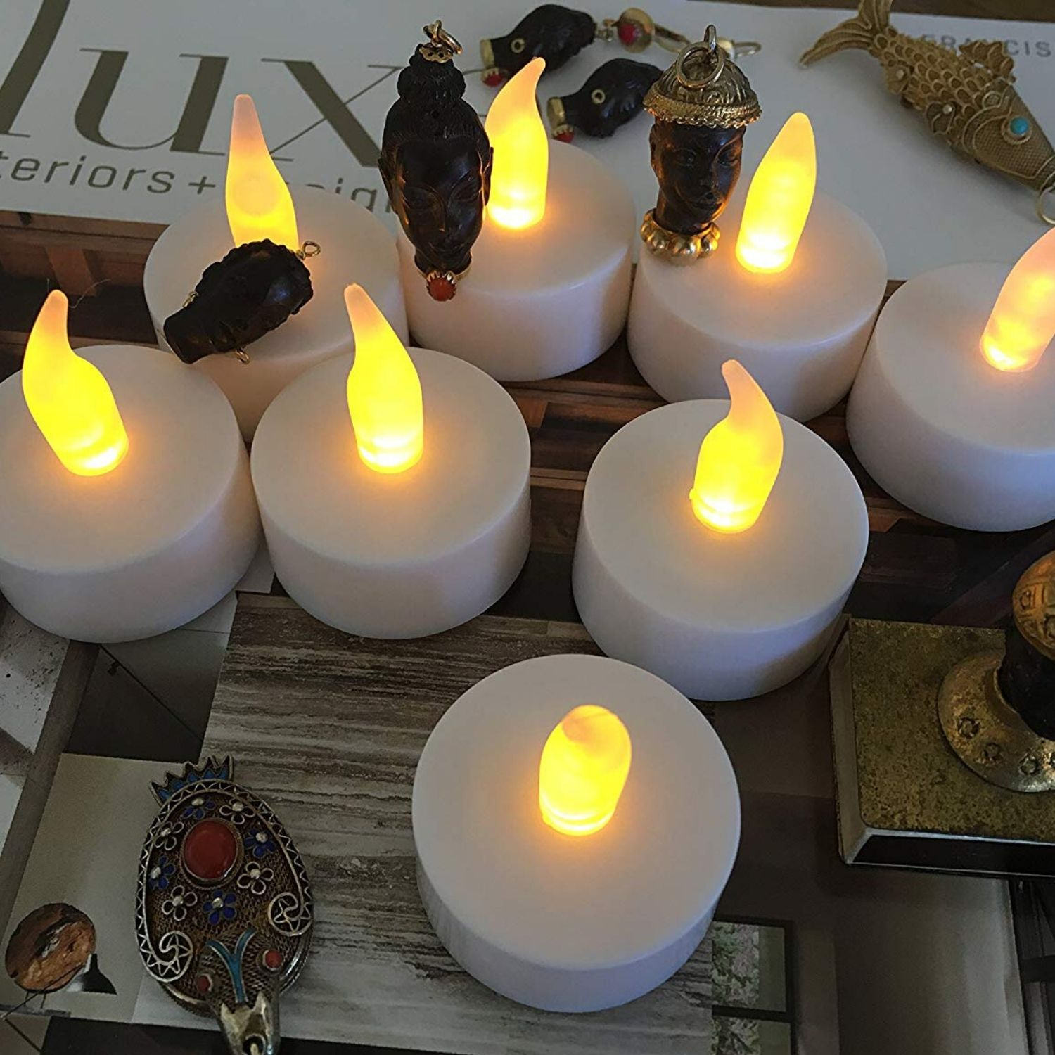 Flameless LED Tea Light Candles, Vivii Battery-Powered Unscented LED Tealight Candles, Fake Candles