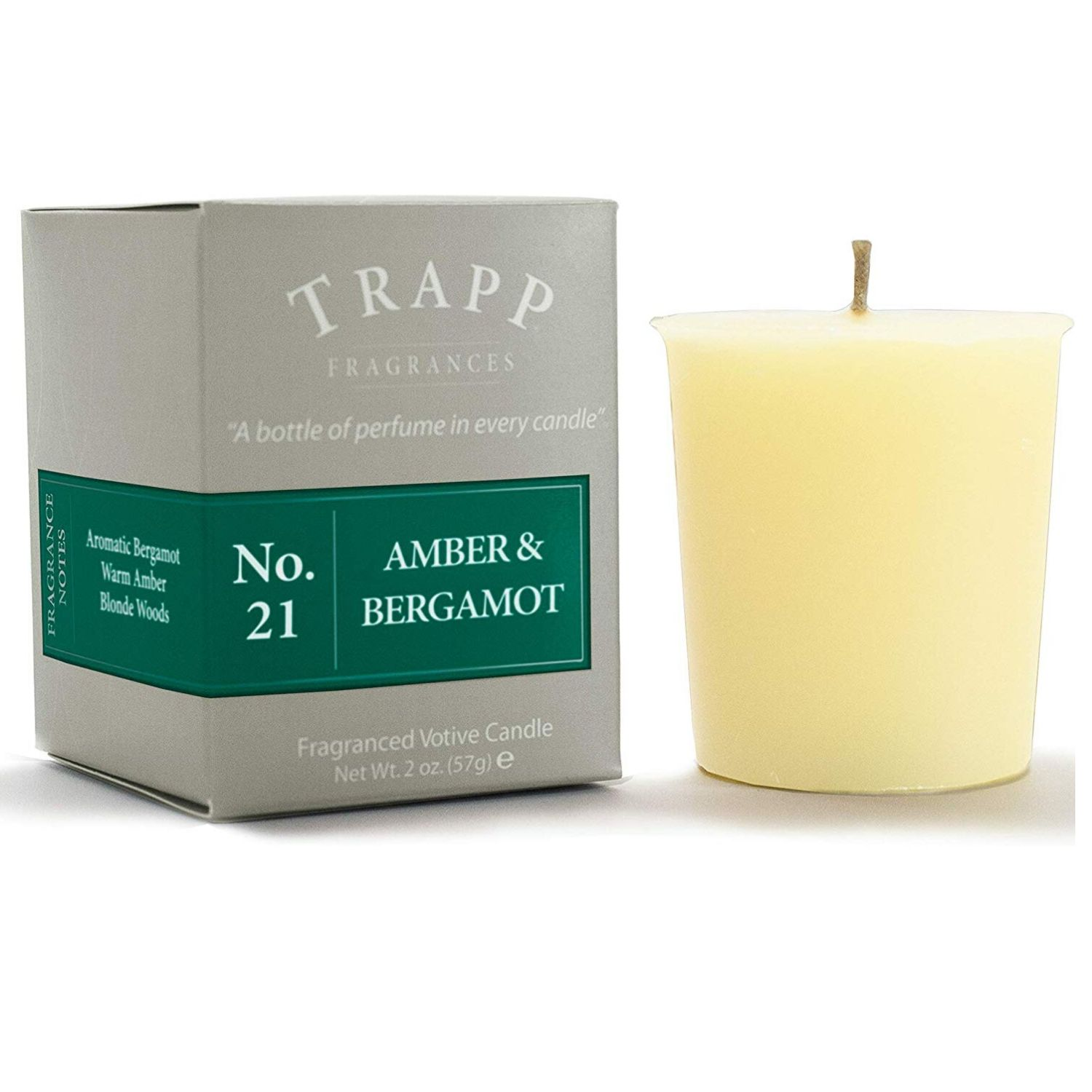 Trapp Signature Home Collection ,Amber & Bergamont Votive Scented Candle