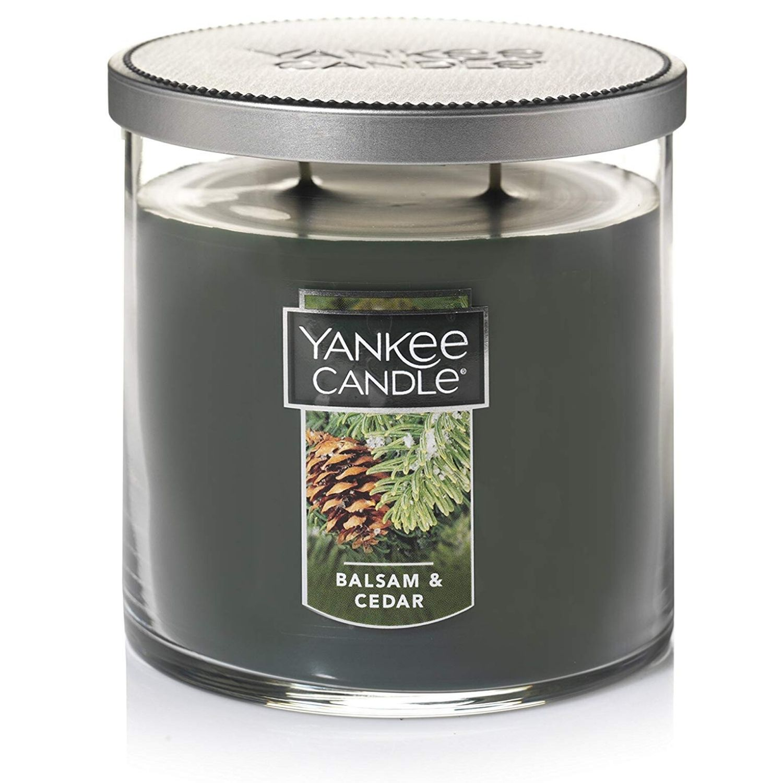 Yankee Candle Medium 2-Wick Tumbler Candle, Balsam & Cedar